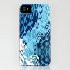 Ikat Medallions: Blue iPhone (4, 4s) Slim Case