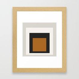 Block Colors - Black White Grey Ochre Framed Art Print