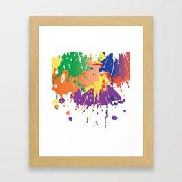 Colourful Paint splash Framed Art Print