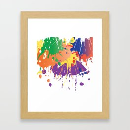 Colourful Paint splash Framed Art Print