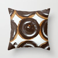 donut Throw Pillows featuring Donut by Kelly Sweet