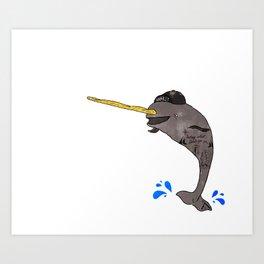 Gnar-Whal Art Print