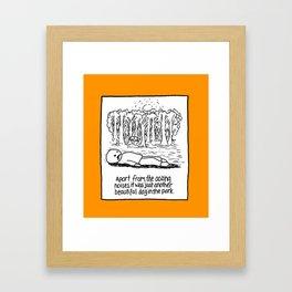 OOZING NOISES Framed Art Print