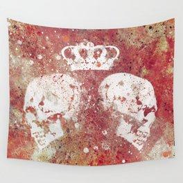 Blood Queendom (spray paint graffiti art, crown with skulls) Wall Tapestry