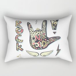 Rock is not dead Rectangular Pillow