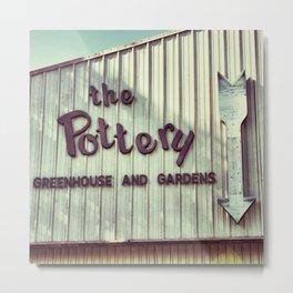 The Pottery Metal Print