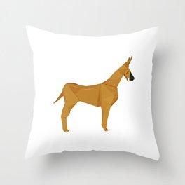 Origami Great Dane Throw Pillow