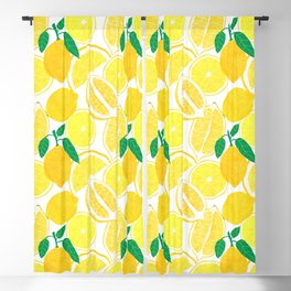 Lemon Harvest Blackout Curtain