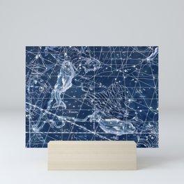 Pisces sky star map Mini Art Print
