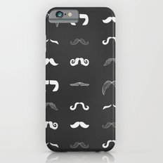 Mustaches on chalkboard Slim Case iPhone 6