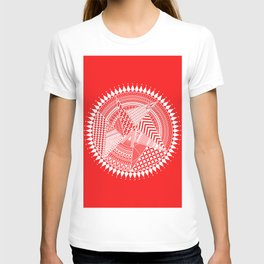 White & Red Mandala Art T-shirt