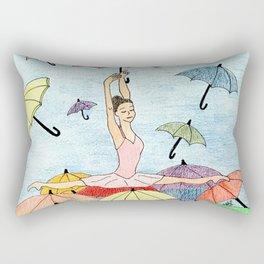 Dance with umbrellas Rectangular Pillow