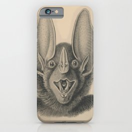 Vintage Happy Bat iPhone Case