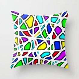 rainbow clown Throw Pillow