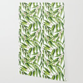 Exotic greenery pattern Wallpaper