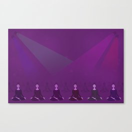 Disco Meditation Canvas Print