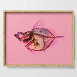 Mirror Dory with pink Serving Tray