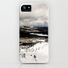 Mammoth Mountain: Main Lodge from Chair 23 iPhone Case