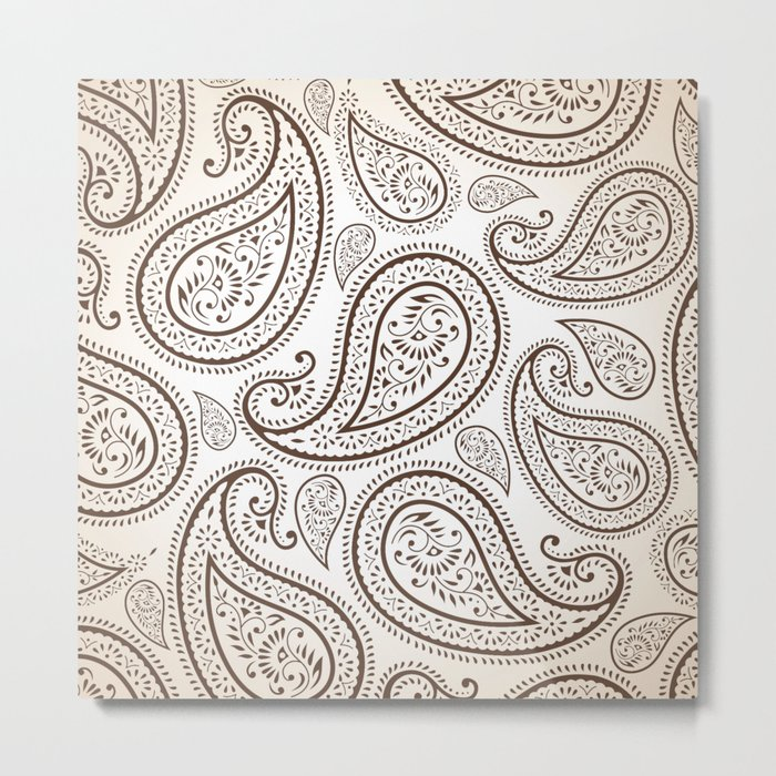 Paisley Threads Metal Print