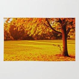 Yellow Autumn Rug