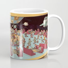 Red Pandas In Space Getting Burgers and Shakes Coffee Mug