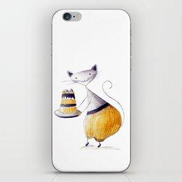 Greedy Cat iPhone Skin