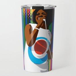 Gladys Subway Soul by Dawn Carrington Travel Mug
