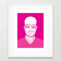 walter white Framed Art Prints featuring Walter White by Ron Chan