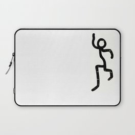 Stick-man Go! by Area 39 Art Laptop Sleeve
