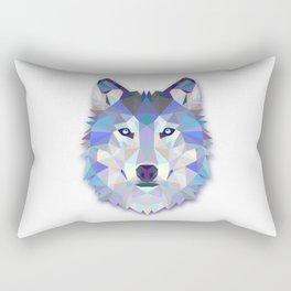 POLYGON WOLF HEAD Rectangular Pillow