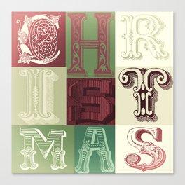 Christmas Blocks Canvas Print
