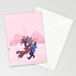 Rose Winter Stationery Cards
