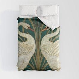 Walter Crane's Swan, Rush, Iris Comforters