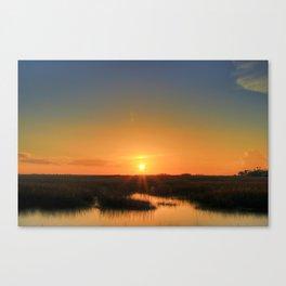 Marshland Sinking Canvas Print