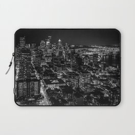 Seattle from the Space Needle in Black and White Laptop Sleeve