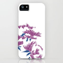 Japanese peonies - purple and blue iPhone Case