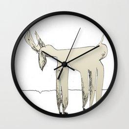 sad deer Wall Clock