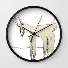 sad deer Wall Clock