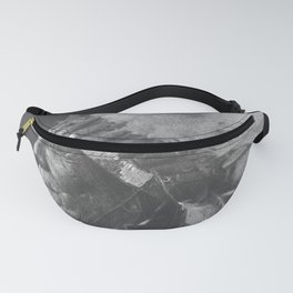 Native American Oglala Tribe 'American Horse' Chief portrait black and white American West photograph Fanny Pack