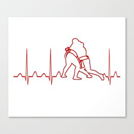 SUMO WRESTLER'S HEARTBEAT Canvas Print