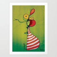 ballon Art Prints featuring Ballon Man by Gokce Gurellier