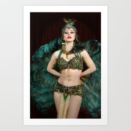 Burlesque Arabesque Art Print