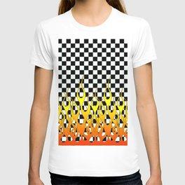 CHECKERED FLAMES T-shirt