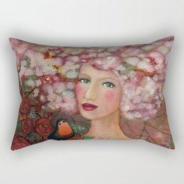 head in the cloud Rectangular Pillow
