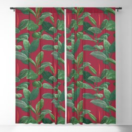 SHANGRI-LA (JESTER RED), by Frank-Joseph Blackout Curtain