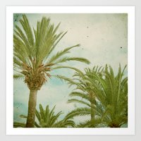 palm trees Art Prints featuring Palm Trees by Cassia Beck