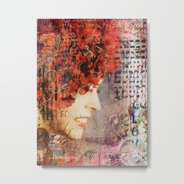 Headful Of Fleurs Metal Print