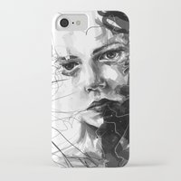 anxiety iPhone & iPod Cases featuring Anxiety by Tsukiko-Kiyomidzu