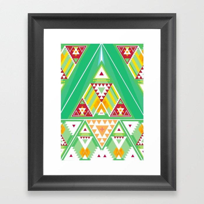 Triangle Indigenous Pattern Framed Art Print