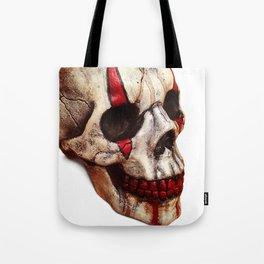 Circus Clown Skull Tote Bag